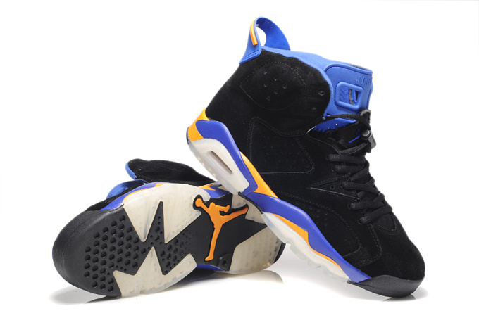 Air Jordan 6 Suede Black Blue White Shoes
