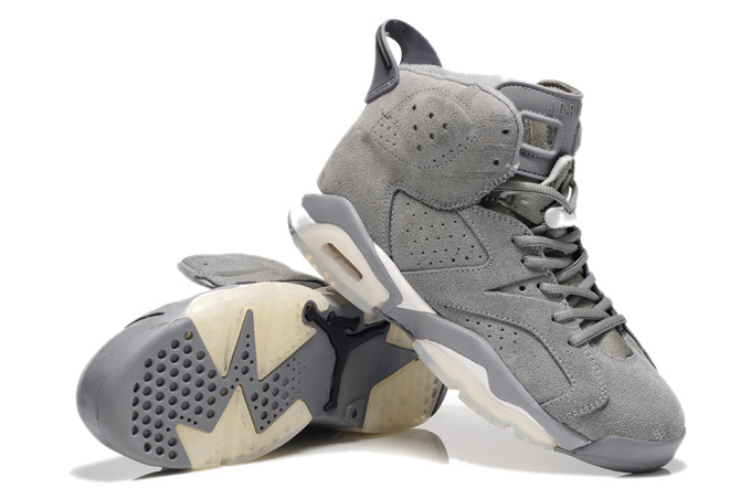 Air Jordan 6 Suede Grey White Shoes