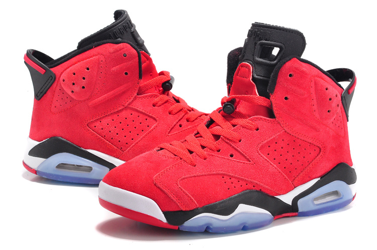 air jordan retro 6 red suede air