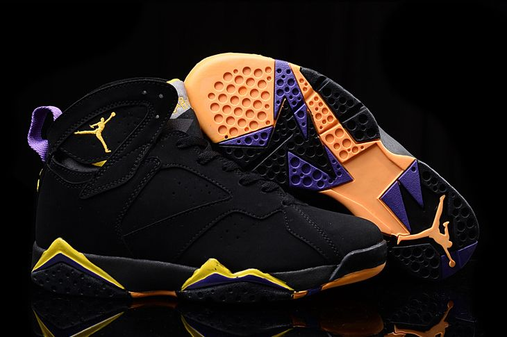 Air Jordan 7 Kobe Bryant Lakers Away PE Black Yellow Purple
