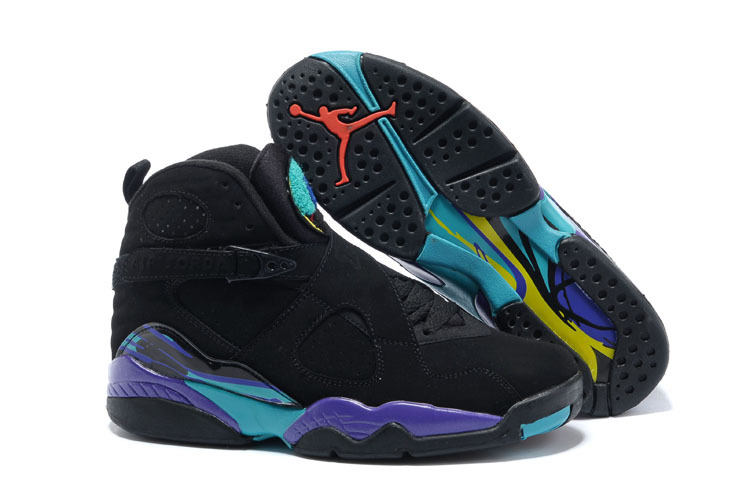 Air Jordan 8 Retro Black Dark Concord Anthracite Aqua Tone