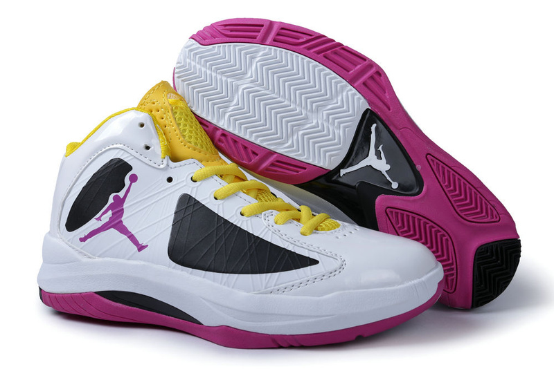 2013 Air Jordan Aero Flight White Black Pink Yellow For Men