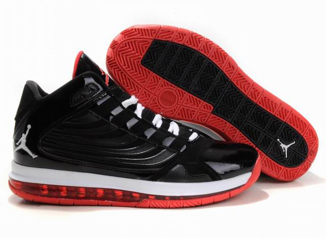 Cheap Jordan Big Ups Black White Red Shoes