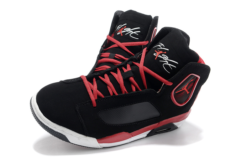 2013 Air Jordan Flight Luminary Black Red White Shoes