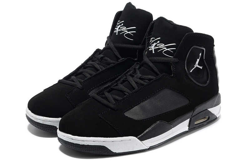 2013 Air Jordan Flight Luminary Black White Shoes