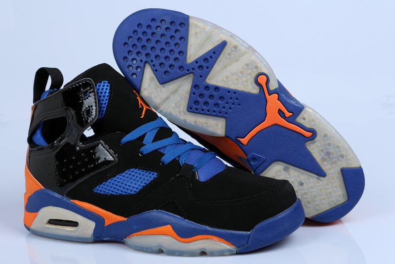 2013 Jordan Fltclb '911 Black Blue Orange Shoes