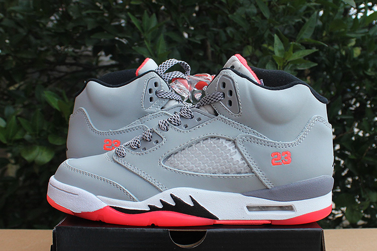 2015 Real Air Jordan Hot Lava Grey Pink Shoes For Women