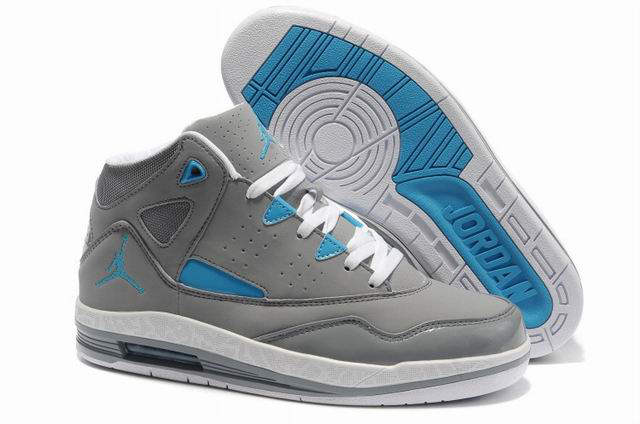 Authentic Jordan Jumpman H Series II Grey White Blue Shoes