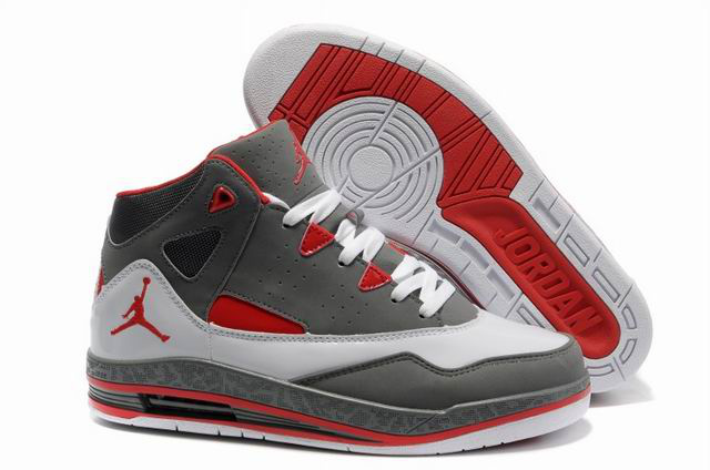 Authentic Jordan Jumpman H Series II Grey White Red Shoes