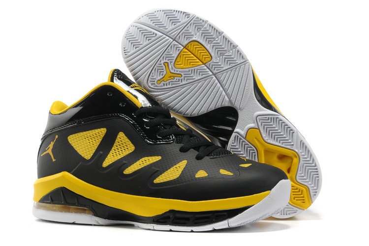 Authentic Jordan Melo 8 Black Yellow White Shoes For Women