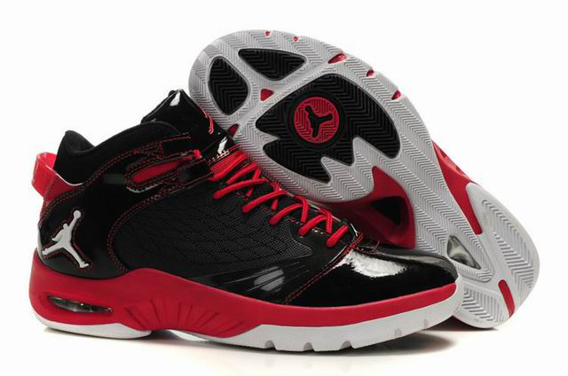 Air Jordan New School Black Red White Shoes
