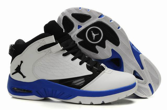 Air Jordan New School White Black Blue Shoes