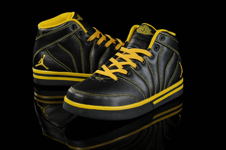 Authentic Jordan Pro Classic Black Yellow For Women