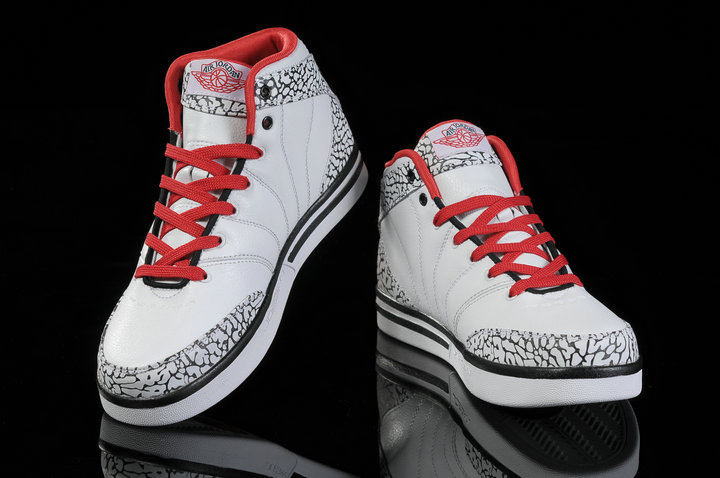 Authentic Jordan Pro Classic White Red Black Cement For Women