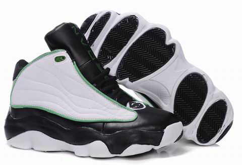 Comfortable Jordan Pro Srong Black White Green Shoes