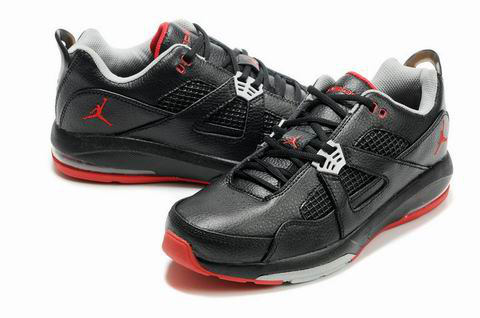 Jordan Q4 Black Grey Red Shoes