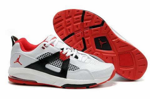 Jordan Q4 White Red Black Shoes
