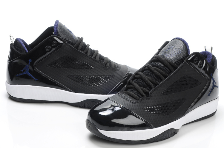 Air Jordan Quick Fuse Black White Blue Logo