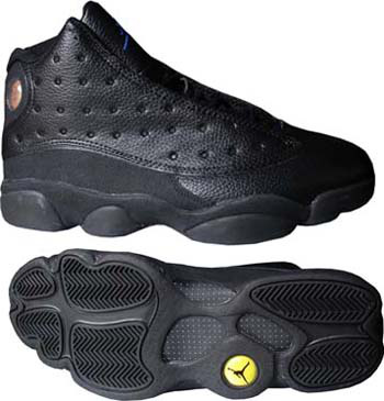 Authentic Jordan Retro 13 All Black Shoes
