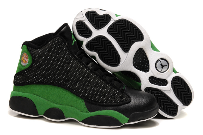 Special Air Jordan Retro 13 Black Green Shoes