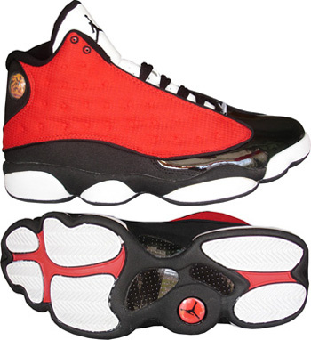 Authentic Jordan Retro 13 Red White Black