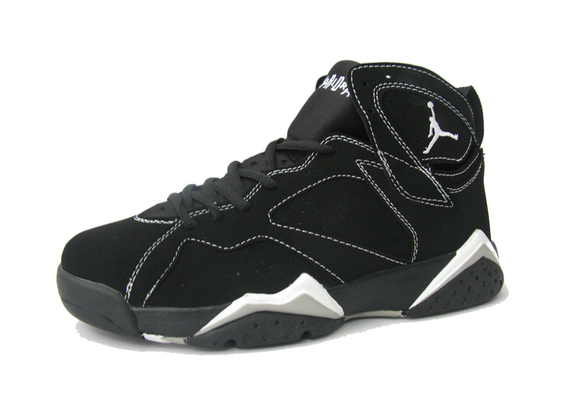 Cheap Original Jordan Retro 7 Black White Shoes