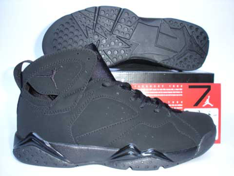 Cheap Original Jordan Retro 7 Dark Black Shoes On Promotion Sale