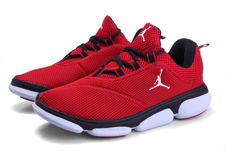 Jordan Running Shoes Red Black White