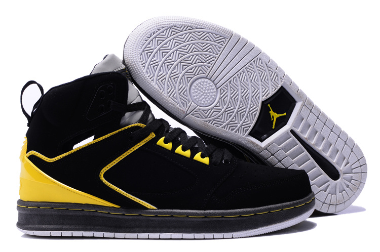 2013 Air Jordan Sixty Club Black Yellow Shoes