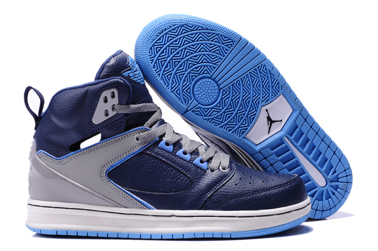 2013 Air Jordan Sixty Club Blue Grey Shoes