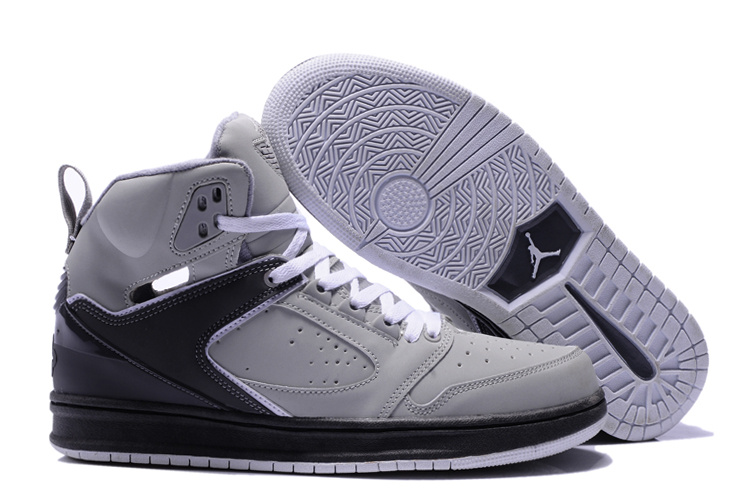 2013 Air Jordan Sixty Club Grey Black Shoes