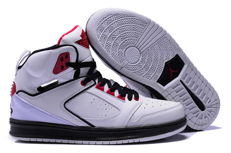2013 Air Jordan Sixty Club White Black Red Shoes