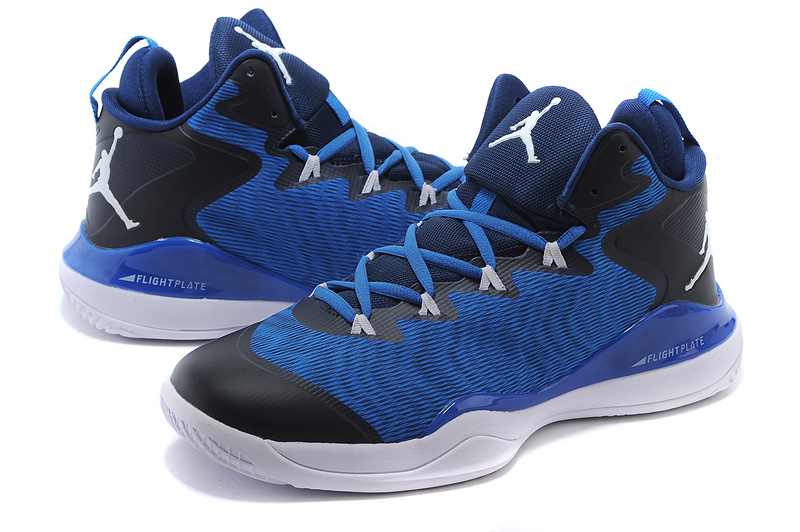 New Air Jordan Retro Super.Fly 3 X Blue Black White Shoes