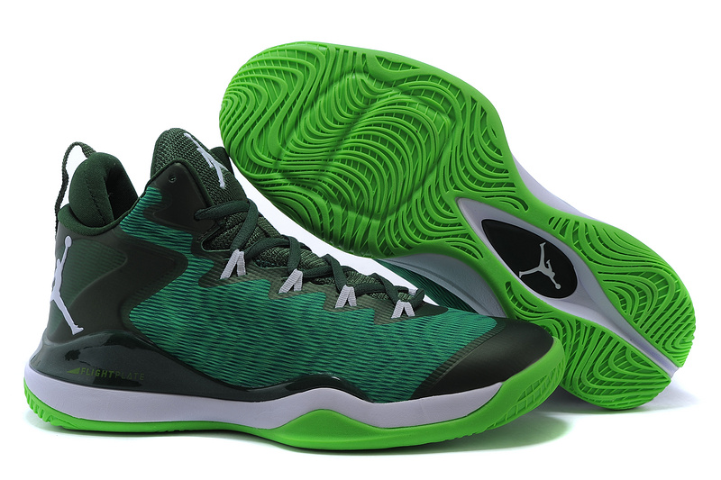 New Air Jordan Retro Super.Fly 3 X Green Black White Shoes