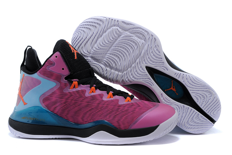 2015 Jordan Super.Fly 3 X Purple Black Blue Orange