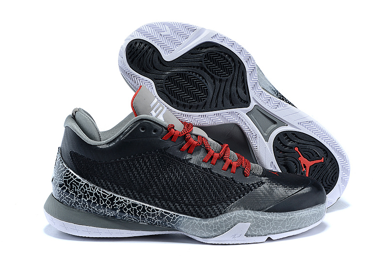 2015 Black Grey Red Jordan Flight Original 2 Shoes