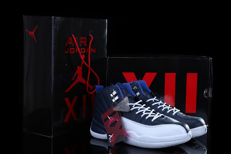 Chalcedony Air Jordan 12 Blue White Shoes For Sale