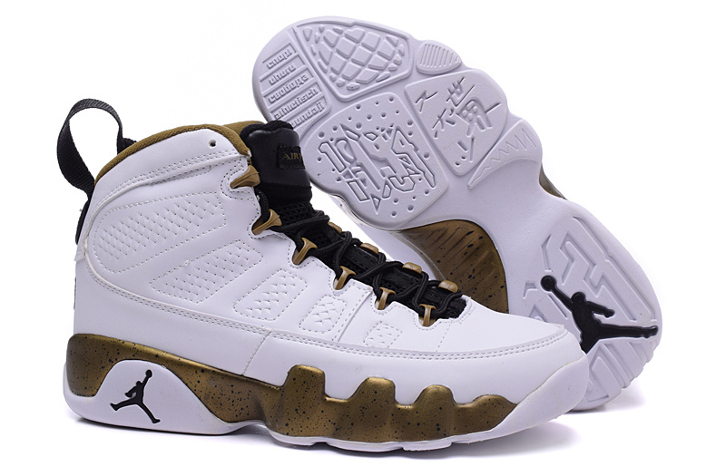 Cheap Air Jordan 9 Copper Statue White Black Militia Green 2015