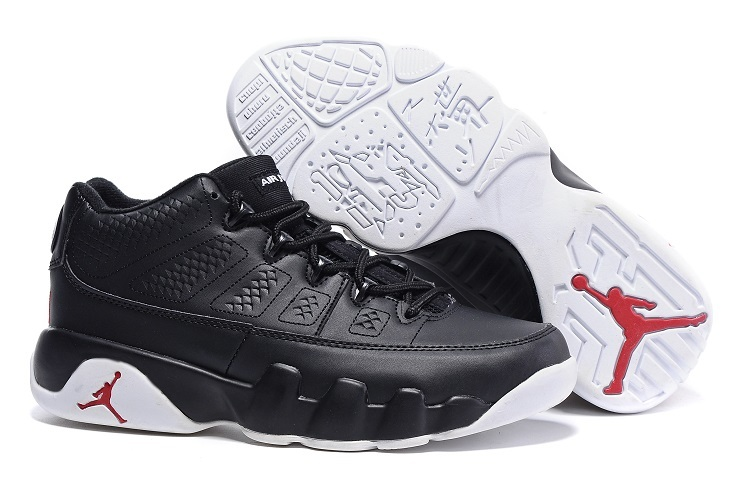 Cheap Nike Air Jordan 9 Retro Low Chicago Black White Gym Red