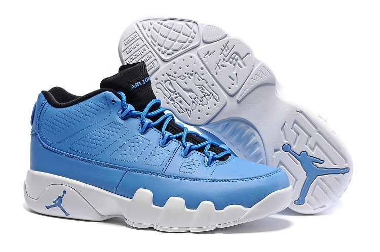 Cheap Nike Air Jordan 9 Retro Low Pantone University Blue Black White