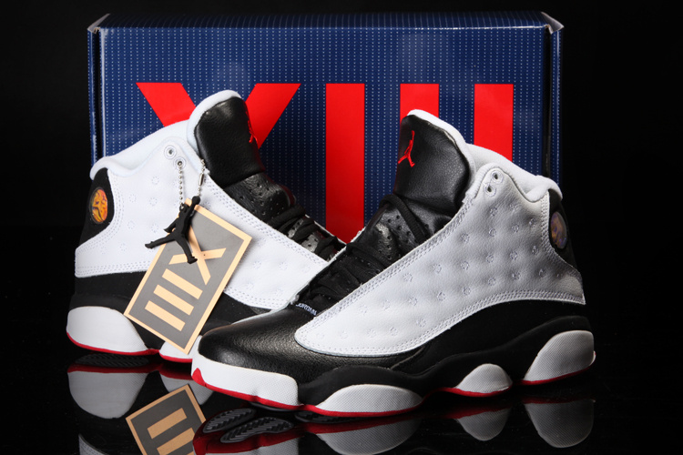 2013 Summer Jordan 13 White Black Red Shoes