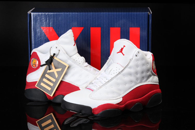 2013 Summer Jordan 13 White Red Shoes