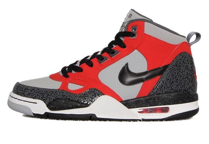 2015 F Nike Flight13 Mid Jordan 4 Red Grey Black Shoes