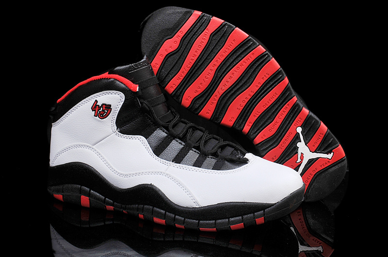 For Sale Air Jordan 10 Retro Chicago 45 PE For 2015 In White Varsity Red Black