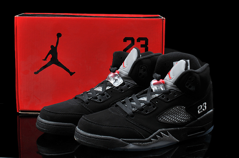 Hardback Air Jordan 5 All Black Shoes
