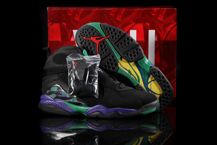2013 Hardback Edition Jordan 8 Black Green Purple