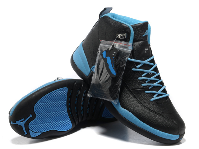 2013 Hardback Air Jordan 12 Black Blue Shoes
