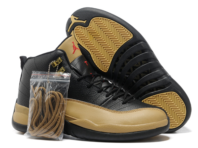 2013 Hardback Air Jordan 12 Black Brown Shoes