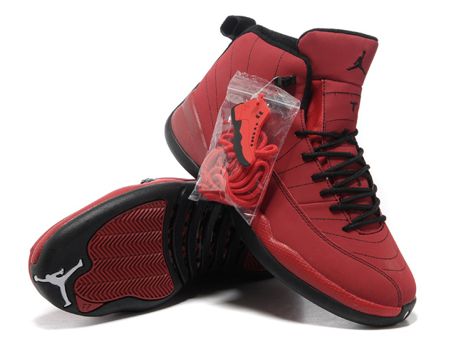 2013 Hardback Air Jordan 12 Red Black Shoes