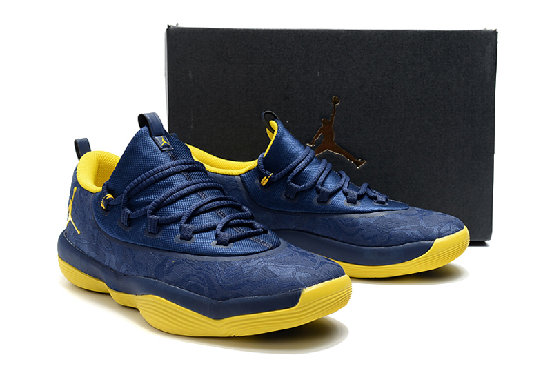 Jordan Griffin 2018 Low Deep Blue Yellow Shoes